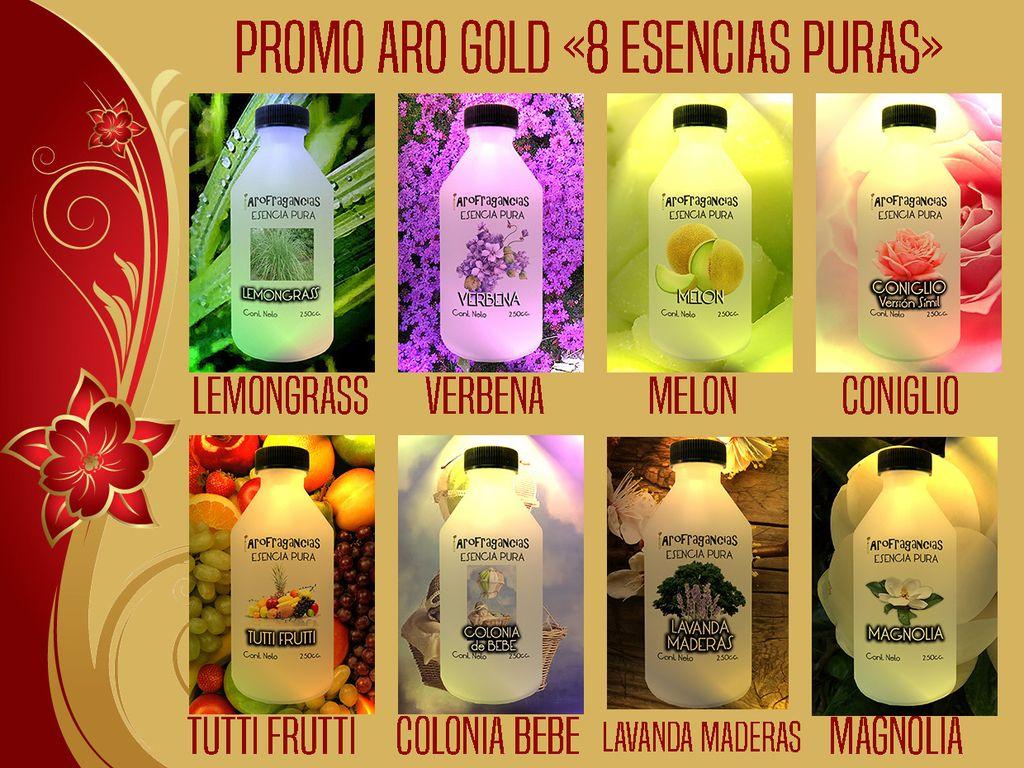 Promo Aro Gold «8 Esencias Puras» 30% OFF
