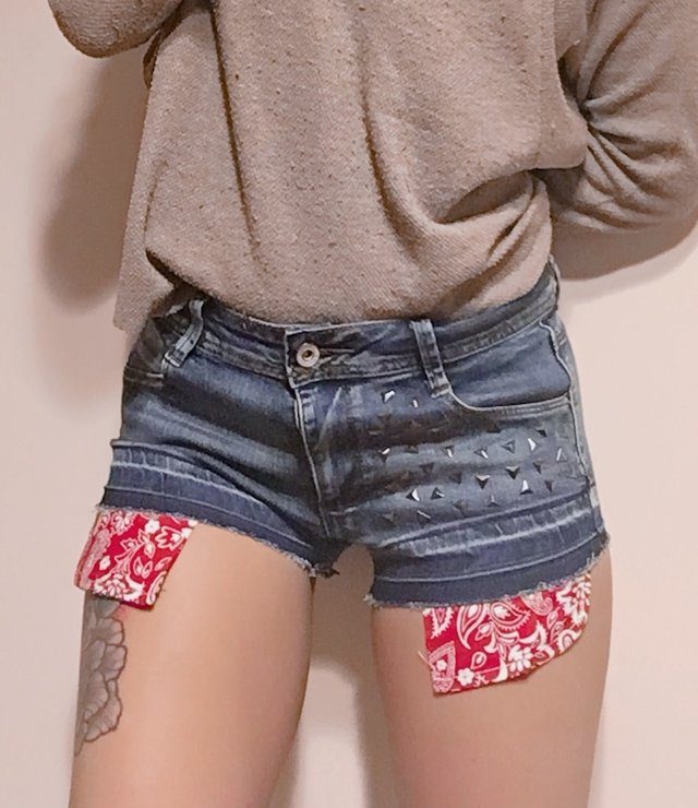 Short POCKET de jean elastizado