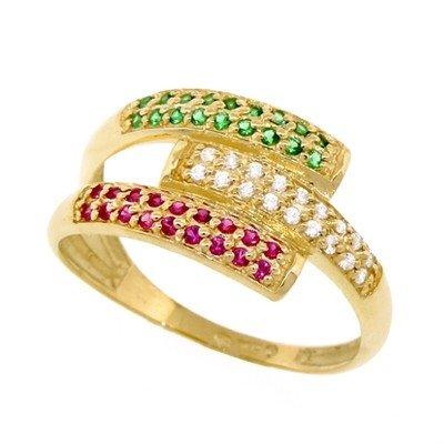 1853d2b6f5b Anel Feminino Ouro 18k com Diamante Rubi e Esmeralda