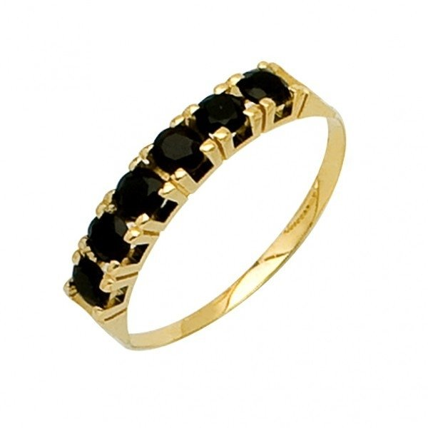 61094977107b2 Meia Aliança de Ouro com Pedra Ônix