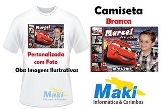 Camiseta Personalizada com Foto - 05 (P, M, G)