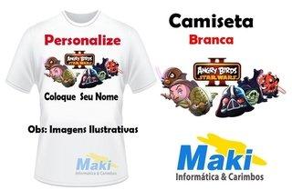 Camiseta Personalizada Desenho com Escrito (P, M, G)
