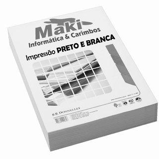 10 Folhas Impressas em Preto e Branca