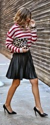 Plated mini skirt