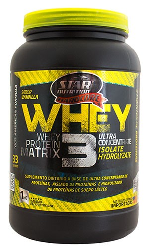 Whey 3 X 1 Kg Star Nutrition