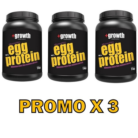 Egg Protein 1kg +growth - Promo X 3