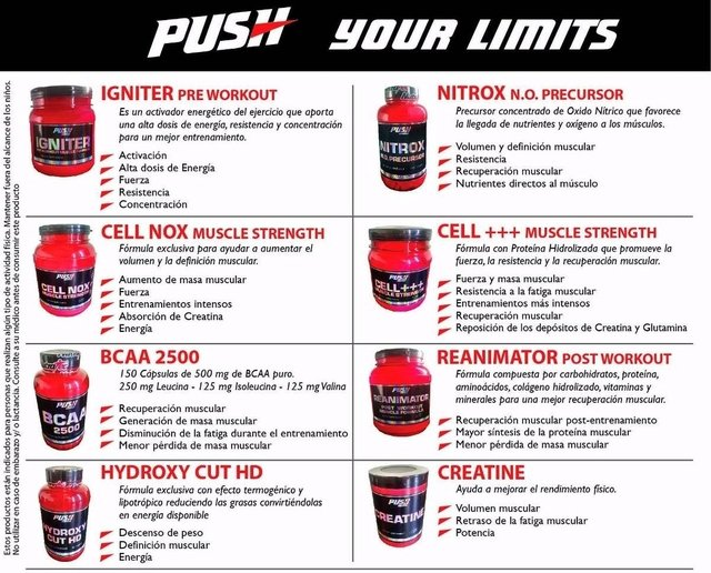 Creatine Push Energy X 900gr en internet