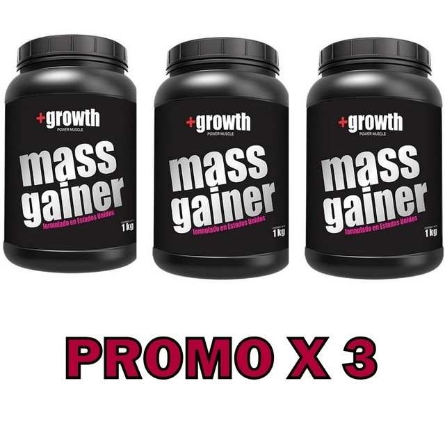 Mass Gainer 1kg +growth - Promo X 3