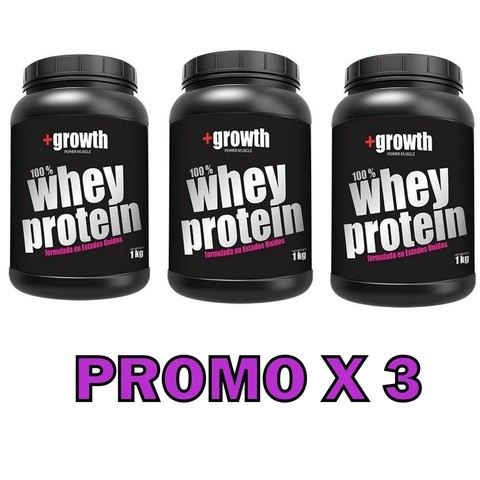 Whey Protein 1 Kg +growth - Promo X 3