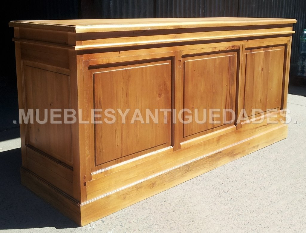 Barra mostrador ramos generales madera maciza ba101a for Fabricacion de bares de madera
