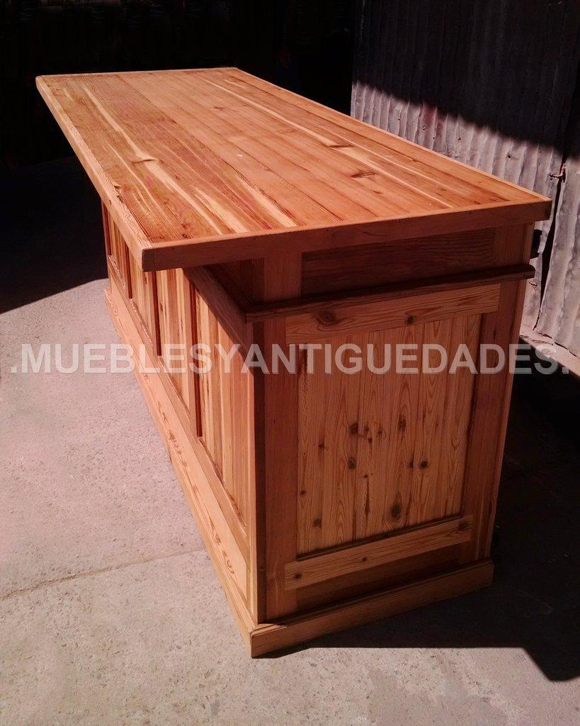 Barra mostrador isla de cocina en pinotea ba109a for Mueble de cocina 3 puertas