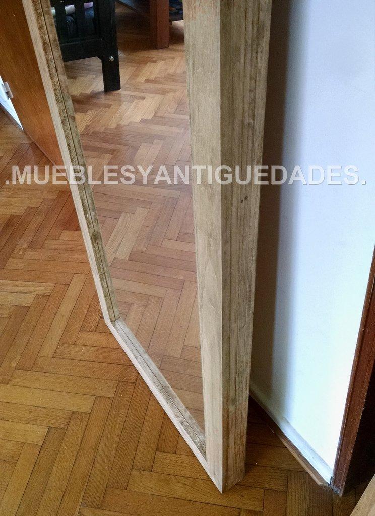 Espejo de pie con marco en madera maciza reciclada 1 80 x for Espejo 50 x 150