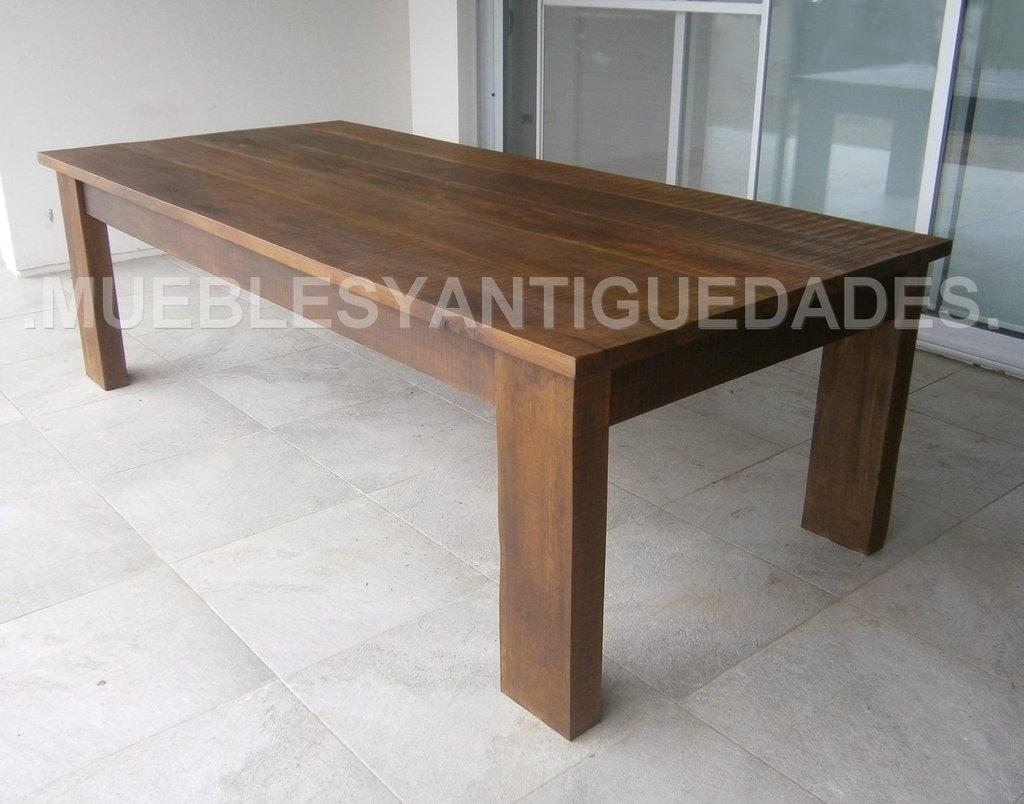 Mesa de comedor en madera maciza 2,50 mts (ME109A)