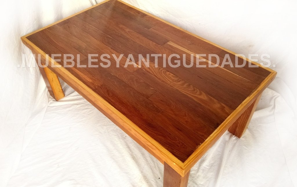 Mesa ratona de madera maciza con tapa de lapacho mr116a for Mesa madera maciza exterior