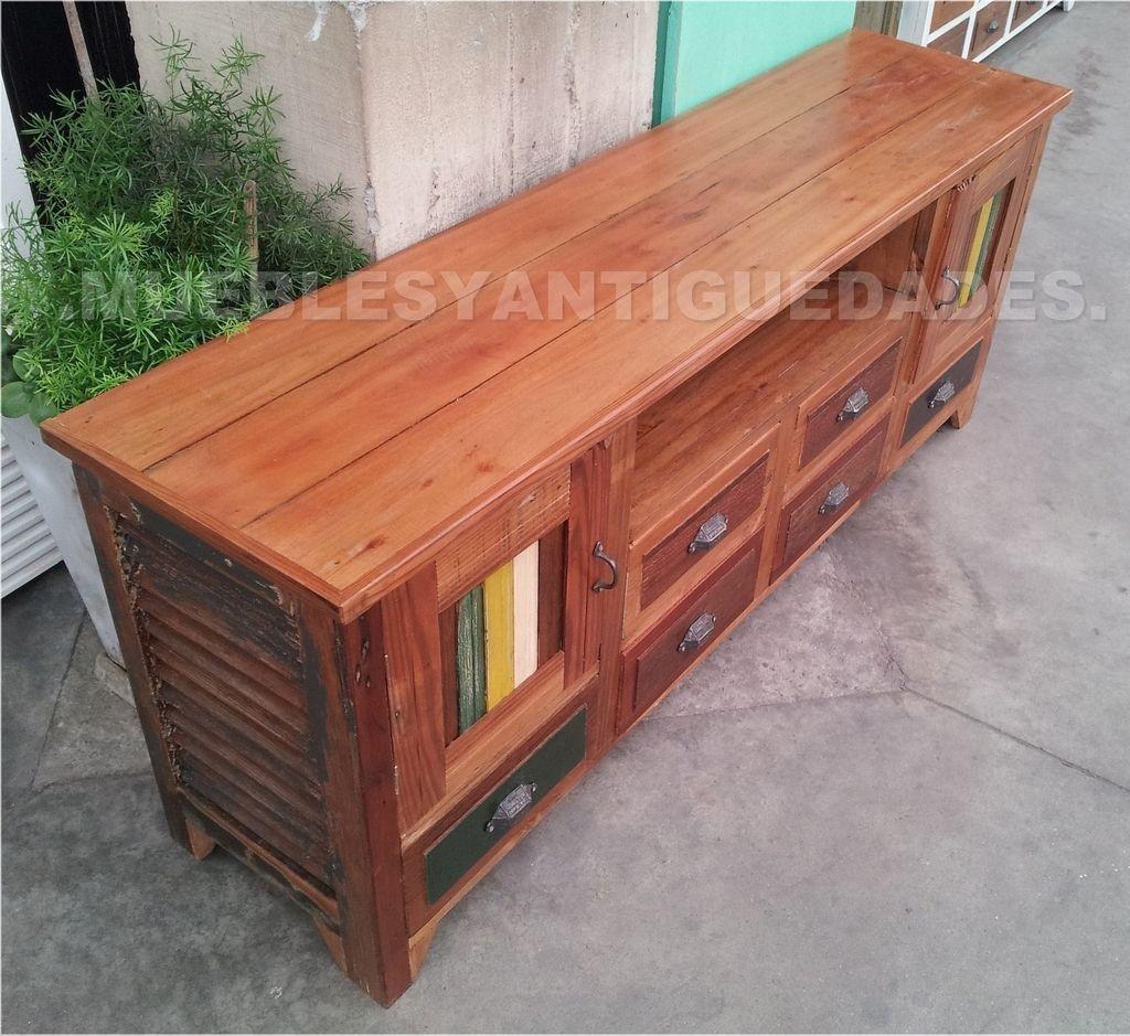 Mueble para tv de dise o realizado en madera maciza tv101m - Muebles de madera de diseno ...