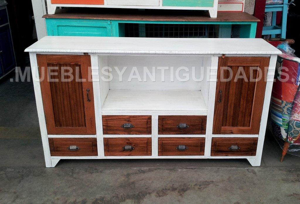Mueble para tv de dise o realizado en madera maciza tv102m for Comprar muebles de diseno online