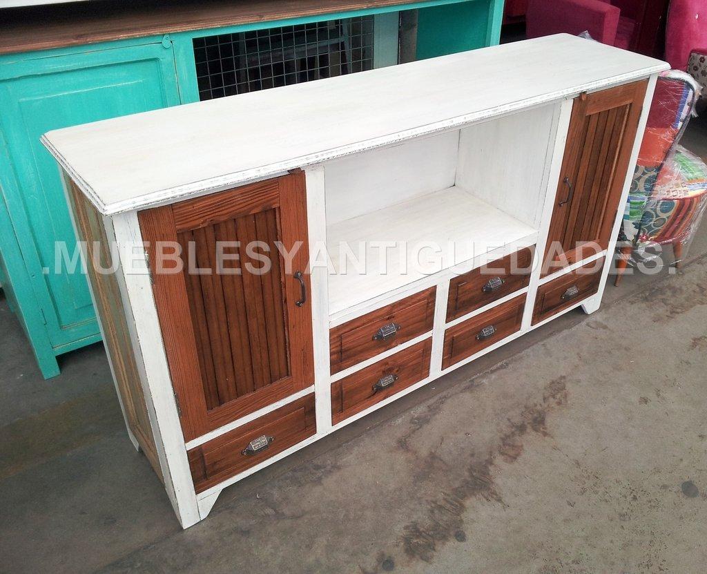 Mueble para tv de dise o realizado en madera maciza tv102m - Muebles de madera de diseno ...