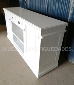 Mueble para TV / audio en madera maciza laqueado (TV104M) en internet