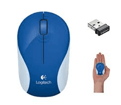 Mouse Logitech Mini M187 Brave Blue