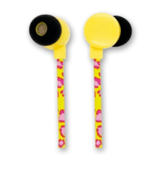 AURICULARES IN EAR Noganet FLAT YELLOW