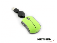 Mini Mouse Netmak Retractil Luminoso Verde