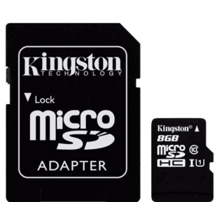 Memory Card 8Gb MicroSD Class 10  Kingston en internet