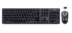Kit teclado+mouse genius Slimstar 8000 Wireless Black