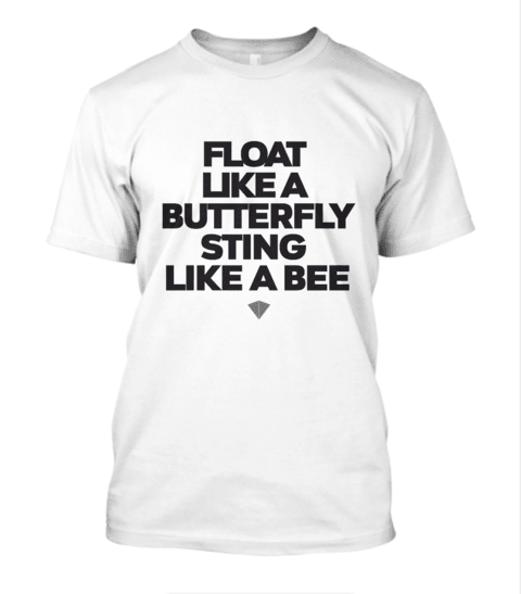 Camisa IronArm Float Like A Butterfly Masculina na internet