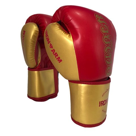 Luva de Boxe  Ironarm Premium Muay Thai Red Gold