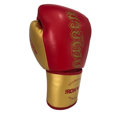 Luva de Boxe  Ironarm Premium Muay Thai Red Gold na internet