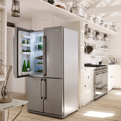 Heladera Smeg Side By Side Modelo FQ75XPED - tienda online
