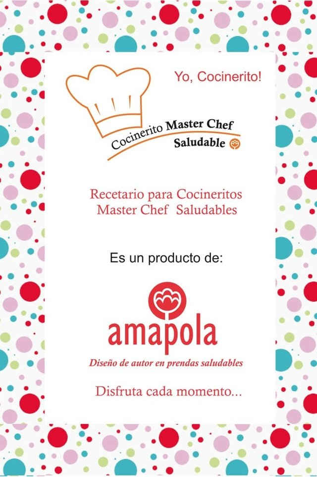 Delantal Cocinerito Master Chef Saludable  - amapola