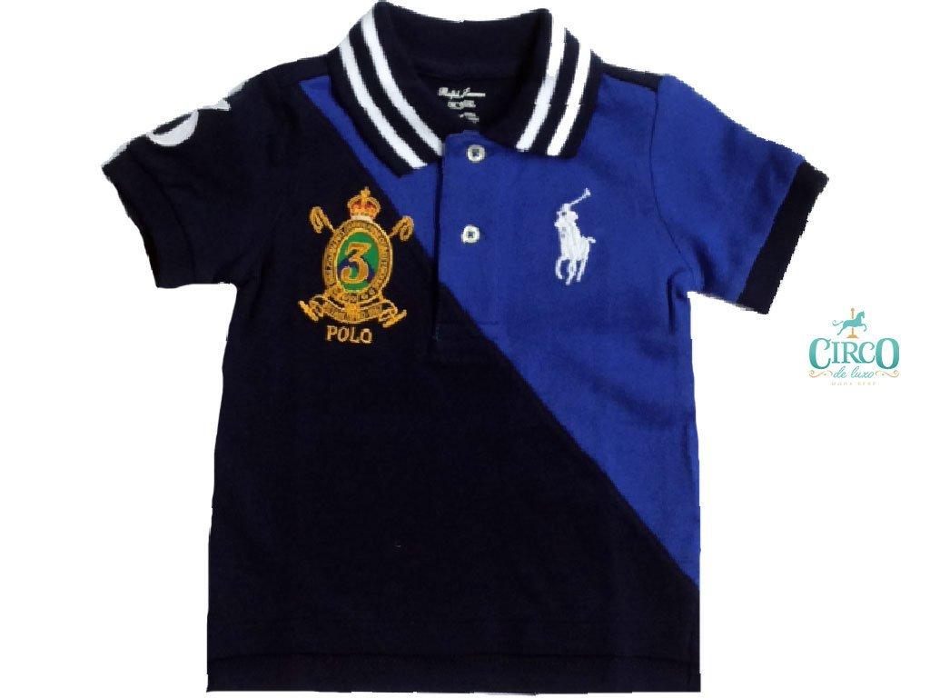 724f39300 Camiseta Polo de Bebê Ralph Lauren