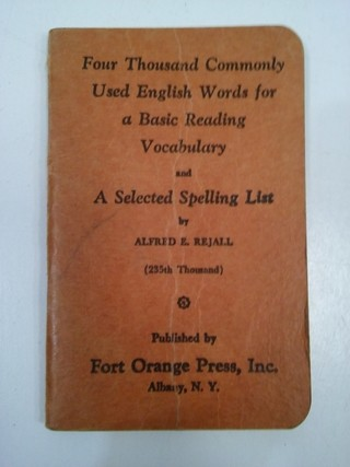 4000 COMMONLY USED ENGLISH WORDS, ALFRED E. REJALL (USADO)