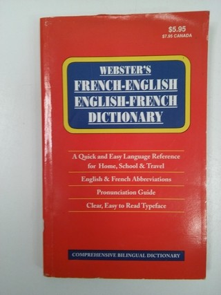 WEBSTER'S FRENCH- ENGLISH/ ENGLISH- FRENCH DICTIONARY (USADO)