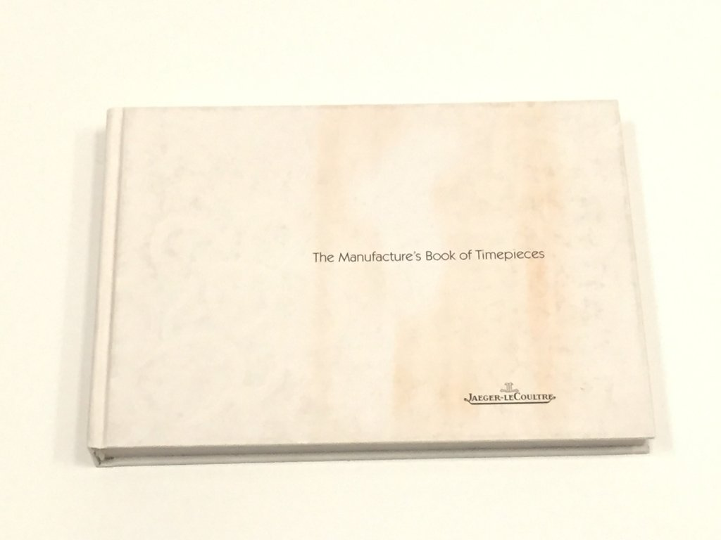 THE MANUFACTURE'S BOOK OF TIMEPIECES, JAEGER-LECOULTRE (USADO)