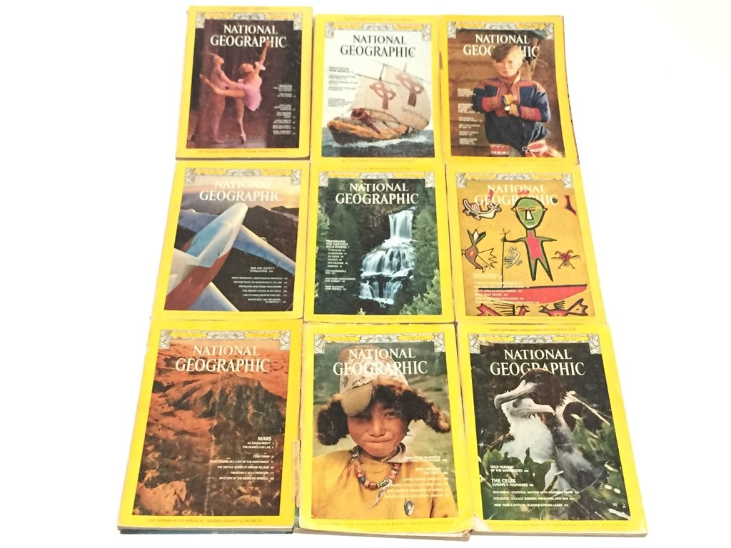 REVISTA NATIONAL GEOGRAPHIC, DISTINTOS NROS. AÑO 1977/1978 (USADO)