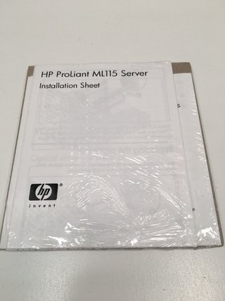 HP PROLIANT ML115 SERVER INSTALLATION SHEET (USADO)