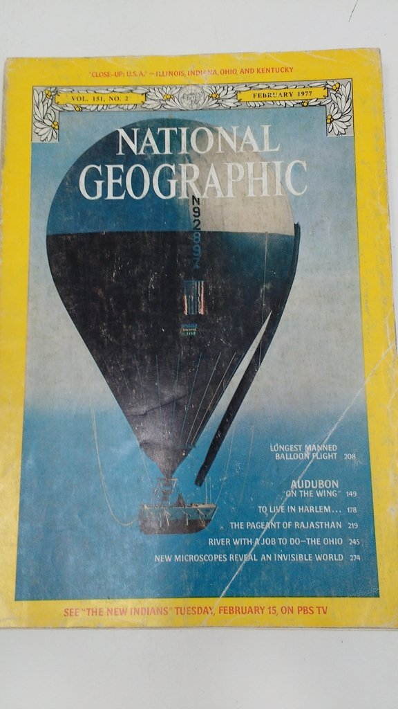 REVISTA NATIONAL GEOGRAPHIC, FEBRERO 1977- EN INGLÉS (USADO)