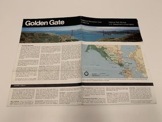 MAPA RETRO GOLDEN GATE NATIONAL RECREATION AREA GOLDEN PARK (USADO)