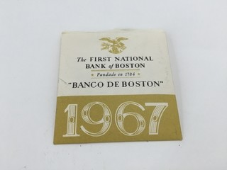 ANTIGUO MINI ALMANAQUE BANK BOSTON 1967