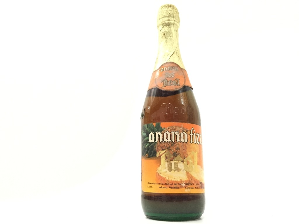 ANTIGUA BOTELLA LLENA ANANÁ FIZZ REAL