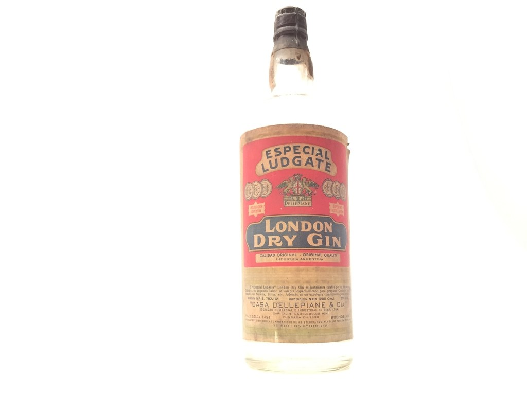 ANTIGUA BOTELLA LLENA LONDON DRY GIN ESPECIAL LUDGATE