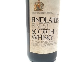 ANTIGUAS BOTELLAS LLENAS SCOTCH WHISKY FINDLATERS FINEST