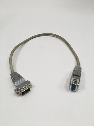 CABLE SERIAL RS232 DB 9 PIN MACHO A HEMBRA 40 CM (USADO)