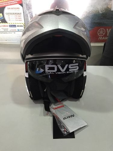 Casco Rebatible Nitro Doble Visor F342 Color Gris