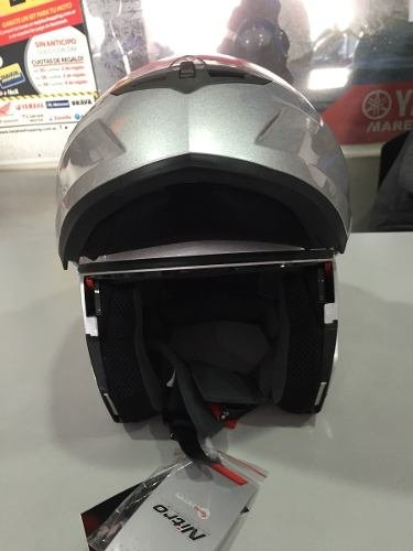 Casco Rebatible Nitro Doble Visor F342 Color Gris en internet