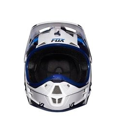 Casco De Fox V1 Mako Blue Azul Blanco Marelli Sports en internet
