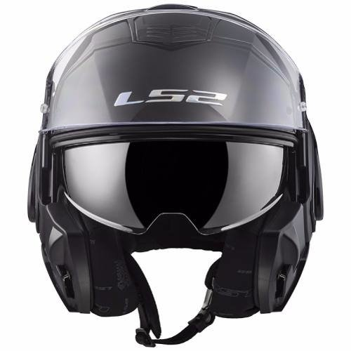 Casco Modular Ls2 399 Valiant Negro Mate Marelli Sports en internet