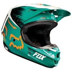 Casco Fox V1 Vandal Verde Naranja Blanco Cross Atv Marelli